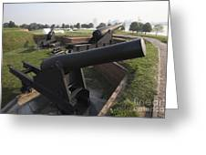 Battery Of Cannons At Fort Mchenry Greeting Card