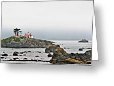 Battery Point Lighthouse California Greeting Card by Christine Till