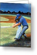 Batting Coach Greeting Card by Pat Burns