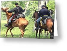 Battle By Horseback Greeting Card