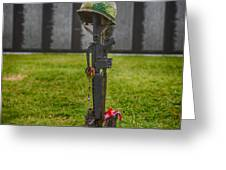 Battle Field Cross At The Traveling Wall Greeting Card
