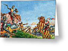 Battle Of Agincourt Greeting Card