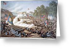 Battle Of Corinth, 1862 Greeting Card