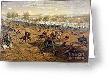 Battle Of Gettysburg Greeting Card by Thure de Thulstrup