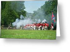 Battle Of Monmouth-redcoats Greeting Card