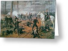 Battle Of Shiloh Greeting Card by T C Lindsay