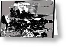 Battle Of Stalingrad Nazi Plane Crossing Volga River 1942 Greeting Card