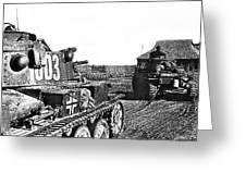 Battle Of Stalingrad Nazi Tanks Greeting Card