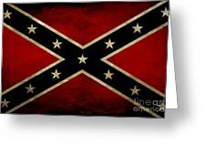 Battle Scarred Confederate Flag Greeting Card