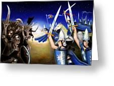 Battle Under The Stars Greeting Card