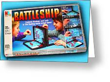 Battleship Board Game Painting  Greeting Card