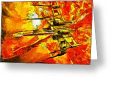 Star Wars X-wing Fighter - Oil Greeting Card