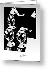 Bauhaus Ballet 2 The Cubist Harlequin Greeting Card
