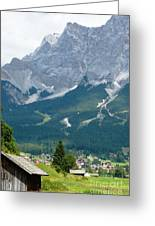 Bavarian Alps With Shed Greeting Card