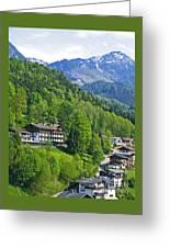 Bavarian Mountainside Greeting Card