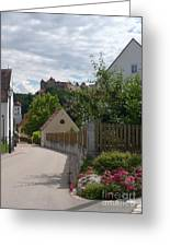 Bavarian Village With Castle  View Greeting Card