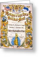 Bavarian Volksfest New York Vintage Poster 1897 Greeting Card