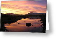 Baxter State Park At Sunset Greeting Card