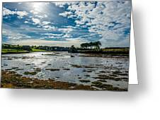 Bay At Low Tide In Clonakilty In Ireland Greeting Card