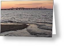 Bay At Sunset Greeting Card