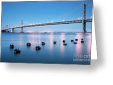 Bay Bridge Blues, San Francisco Greeting Card