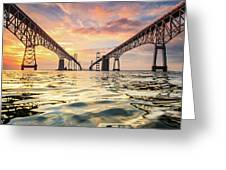 Bay Bridge Impression Greeting Card