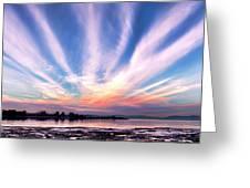 Bay Farm Island Sunrise Greeting Card