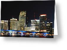 Bay Front Miami Skyline Greeting Card