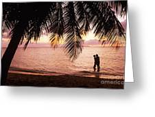 Bay Islands At Sunset Greeting Card