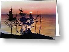 Bay Of Fundy Sunset Greeting Card
