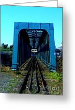 Bay Of Fundy Train Trestle Greeting Card
