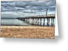 Bay Side Lynnhaven Fishing Pier Greeting Card