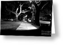 Bay Street Midnight Path Greeting Card