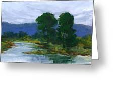 Bay View Trees Greeting Card