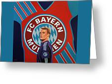 Bayern Munchen Painting Greeting Card