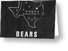 Baylor Bears / Ncaa College Football Art / Waco Texas Greeting Card by Damon Gray