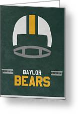 Baylor Bears Vintage Football Art Greeting Card