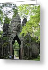 Bayon Gate Greeting Card by Marion Galt