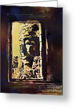 Bayon IIi- Cambodian Ruins, Angkor Wat Greeting Card