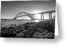 Bayonne Bridge Black And White Greeting Card