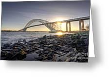 Bayonne Bridge Sunset Greeting Card