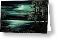 Bayou By Moonlight Greeting Card