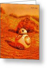 Bb-8 In The Desert - Pa Greeting Card