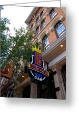 Bb King Bar Nashville Greeting Card