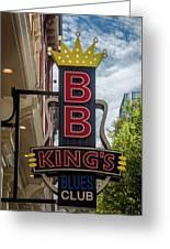 Bb King's Blues Club - Honky Tonk Row Greeting Card
