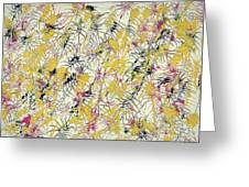 Bumble Bees Against The Windshield - V1cs65 Greeting Card