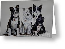 Bc Family Portrait  Greeting Card