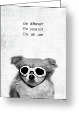Be Different Be Yoursef Be Unique Greeting Card