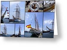 B.e. Juan Sebastian De Elcano Greeting Card