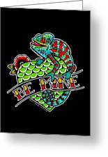 Be Mine Panther Chameleon Greeting Card